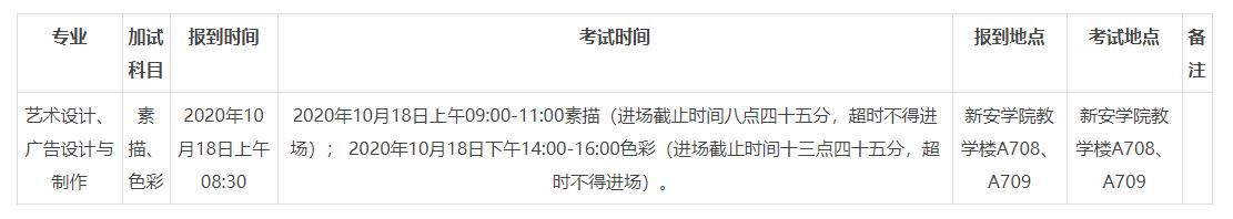 转 2020年成人高考广东新安职业技术学院艺术类专业术科加试的通知